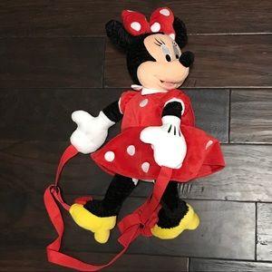 DisneyParks Minnie Mouse Polka Dot Plush Backpack